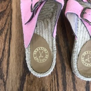 Penelope Chilvers pink haircalf slides